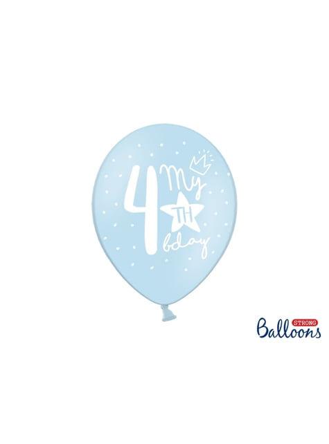 50 ekstra stærke balloner til fjerde fødselsdag (30 cm)