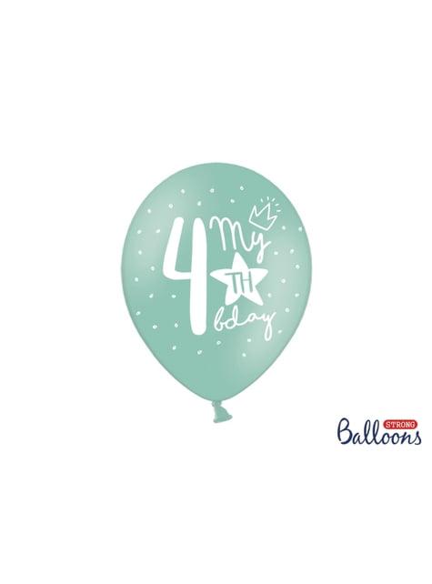 50 extra silných balonků for fourth birthday (30 cm)