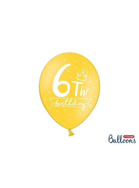 50 ballons extra résistants sexto anniversaire (30 cm)