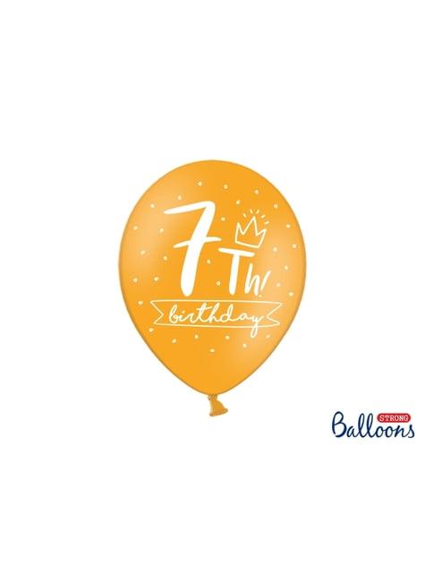 50 globos extra resistentes séptimo cumpleaños (30 cm)