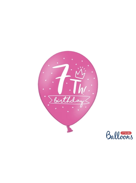 50 palloncini extra resistenti 7° compleanno (30 cm)