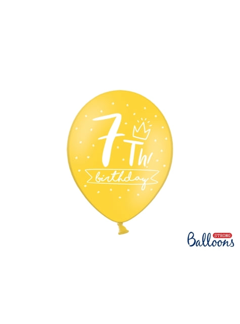 50 extra strong balloons for seventh birthday (30 cm)