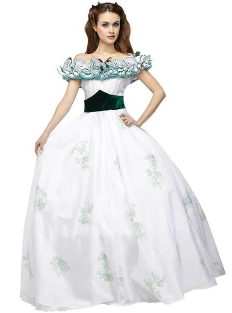 Disfraz de princesa Scarlett elegante para mujer