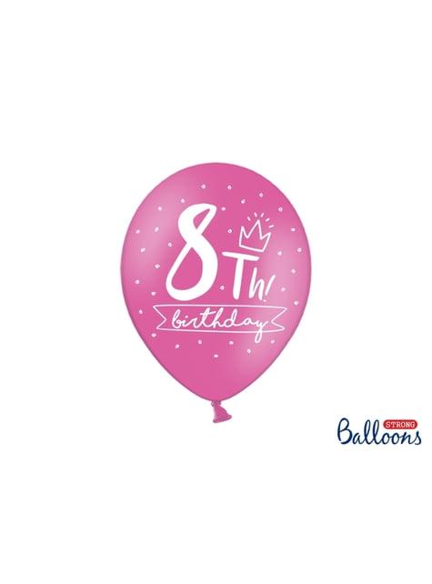 50 globos extra resistentes octavo cumpleaños (30 cm) - barato