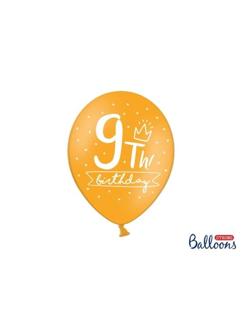 50 balões extra resistentes nono aniversário (30cm)