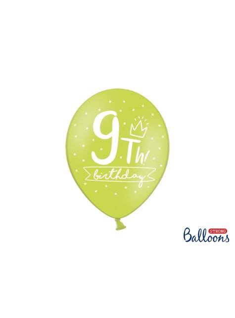 50 ekstra stærke balloner til niende fødselsdag (30 cm)