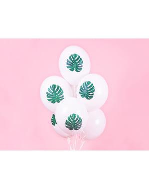"""50 """"ALOHA"""" लेटेक्स गुब्बारे सफेद (30 सेमी) में - अलोहा फ़िरोज़ा"""