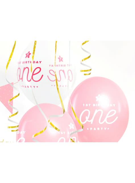 50 ballons extra résistants roses (30cm)