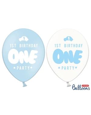 Pastel mavinin ilk doğum günü için 6 ekstra güçlü balon (30 cm)