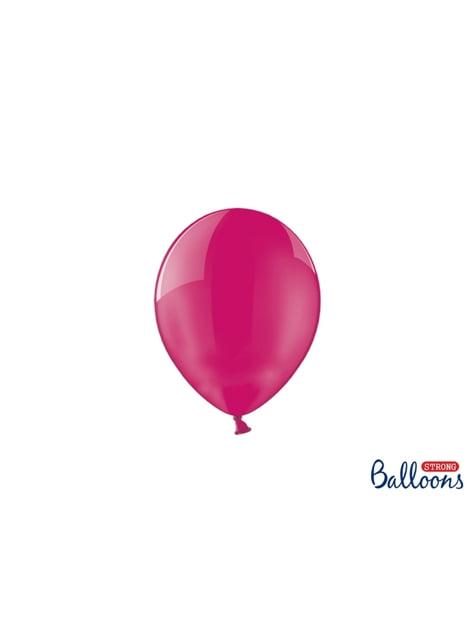100 globos extra resistentes fucsias (12 cm)