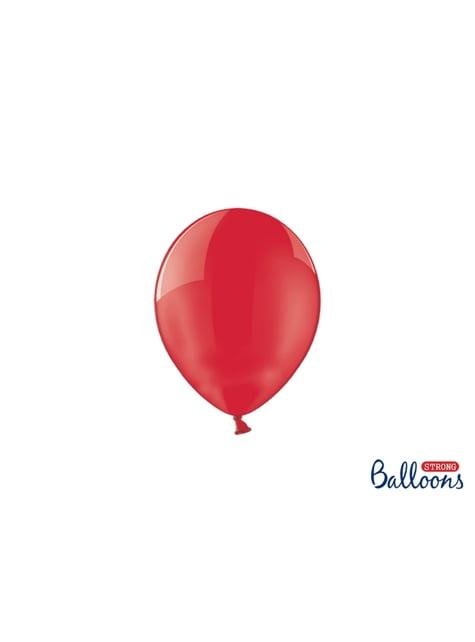 100 sterke ballonnen in koraal, 12 cm