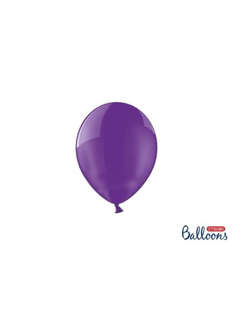 100 globos extra resistentes lila (12 cm)
