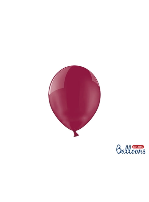100 ballons extra résistants 12 cm grenat cristallisé