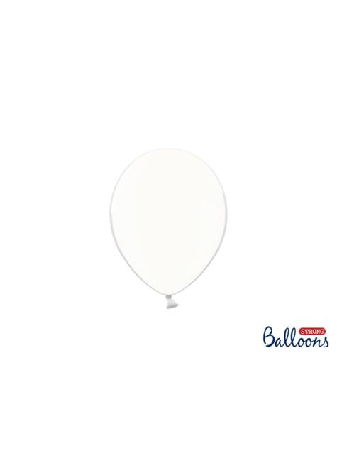 100 heldere, sterke ballonnen, 12 cm