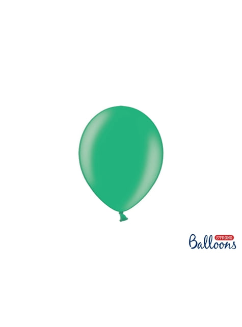 100 globos extra resistentes verde (12 cm)