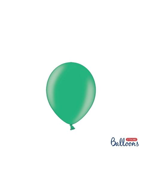 100 silných balónků v zelené barvě, 12 cm