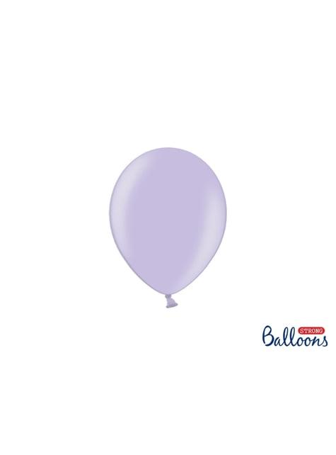 100 sterke ballonnen in paars, 12 cm