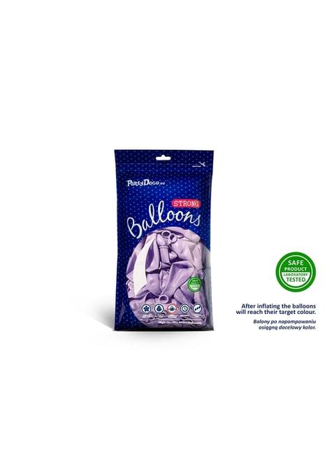 100 silných balónků ve fialové barvě, 12 cm