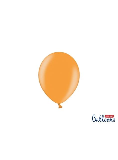 100 sterke ballonnen in mandarijn, 12 cm