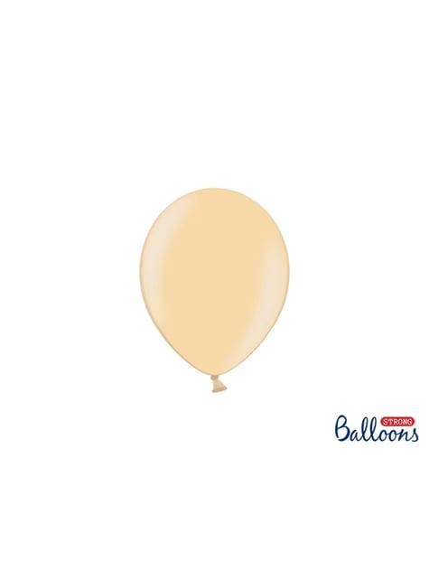 100 silných balónků v oranžové barvě, 12 cm