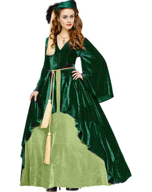 Prinsesse Scarlett Klassisk Kostyme for Dame
