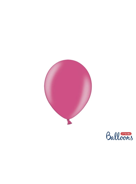 100 ballons extra résistants 12 cm rose métallisé