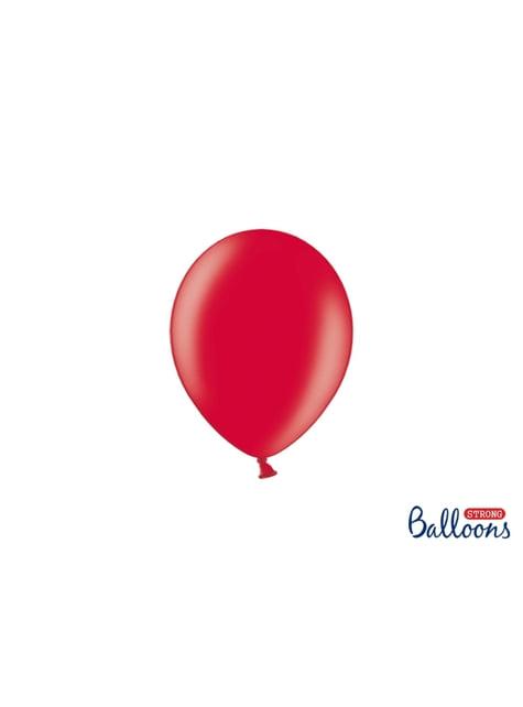 100 ballons extra résistants 12 cm corail métallisé