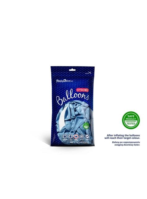 100 globos extra resistentes azul pastel metalizado (12 cm)