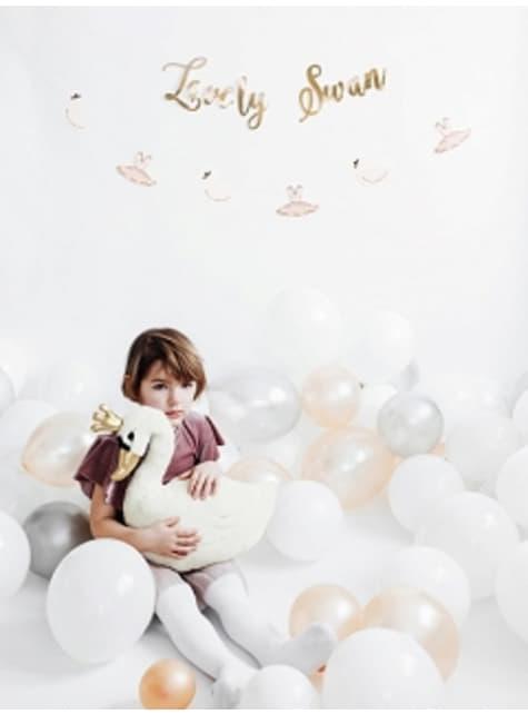 100 silných balónků ve světlešedé barvě, 12 cm
