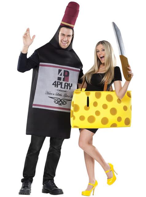 Disfraz para pareja de vino y queso