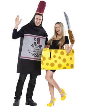 Costume da vino e formaggio per coppia