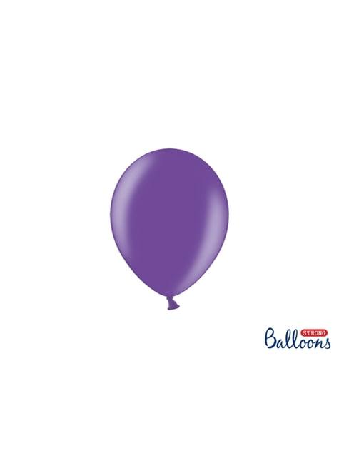 100 silných balónků ve světlefialové barvě, 12 cm