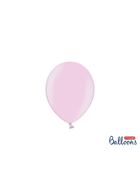 100 globos extra resistentes rosa metalizados (12 cm)