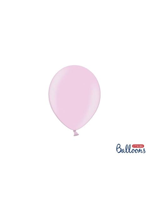 100 Palloncini super resistenti di 12 cm rosa chiaro metallizzato