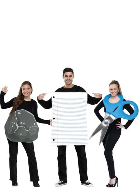 アダルトロック、紙、はさみグループのコスチューム