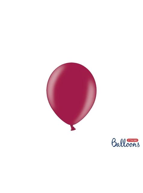 100 sterke ballonnen in donker bordeaux, 12 cm