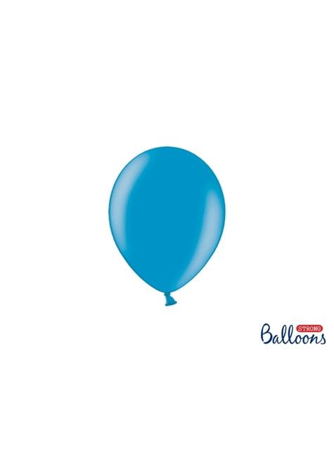 100 sterke ballonnen in licht turquoise blauw, 12 cm