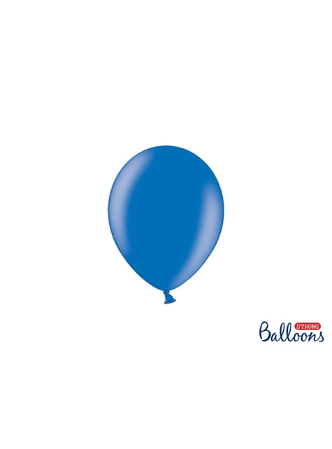 100 globos extra resistentes azul metálico (12 cm)