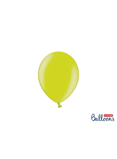 100 ballons extra résistants 12 cm vert citron clair