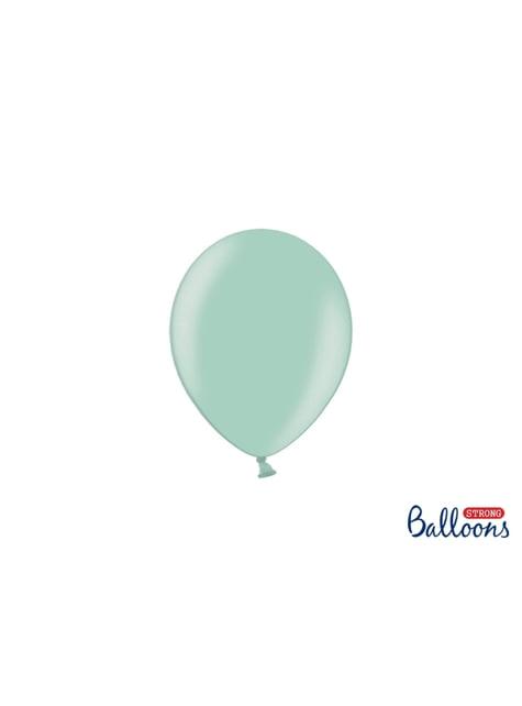 100 ballons extra résistants 12 cm menthe brillant