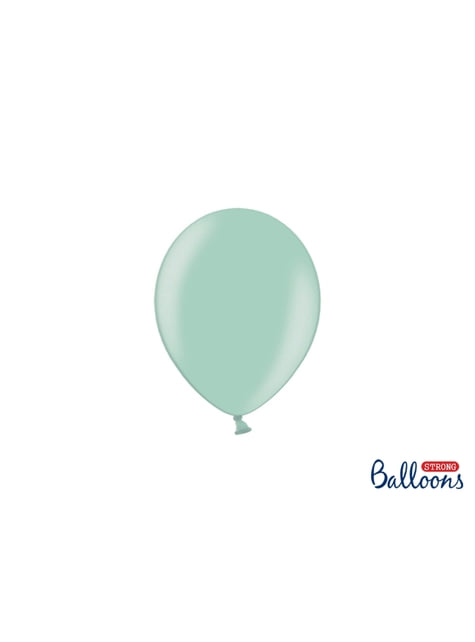 100 globos extra resistentes menta brillante (12 cm)