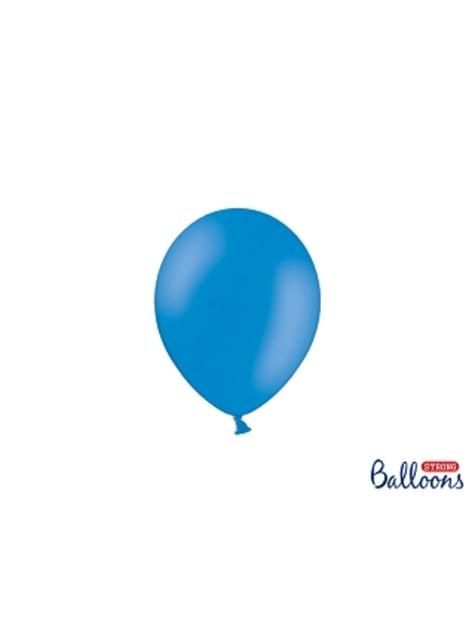 100 silných balónků v modré barvě, 12 cm