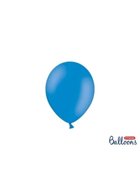 100 sterke ballonnen in medium blauw, 12 cm