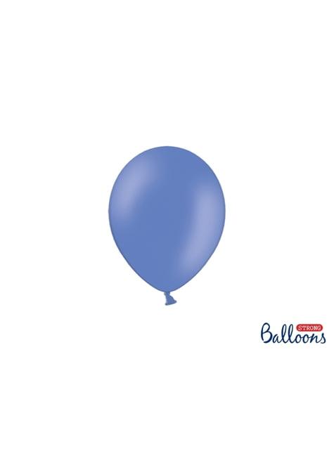 100 sterke ballonnen in blauw-grijs, 12 cm