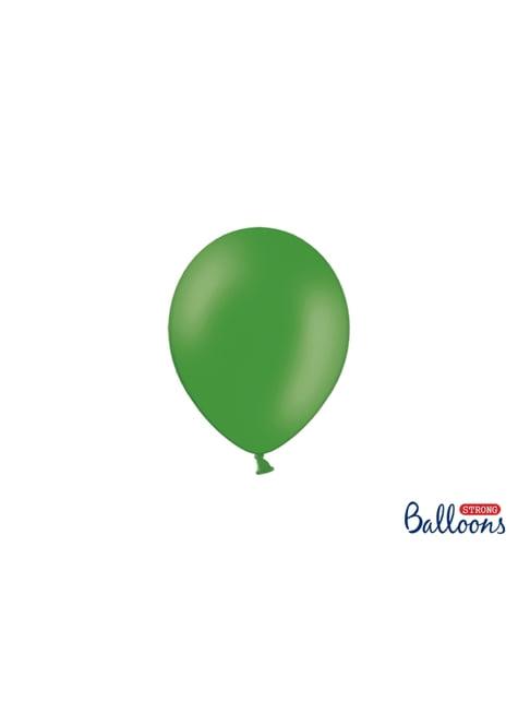 100 globos extra resistentes verde esmeralda (12 cm)
