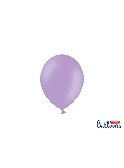 100 sterke ballonnen in lavendel, 12 cm