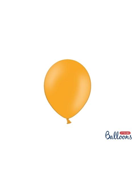 100 sterke ballonnen in mandarijn oranje, 12 cm