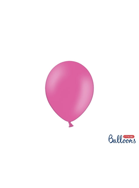 100 globos extra resistentes fucsia pastel (12 cm)