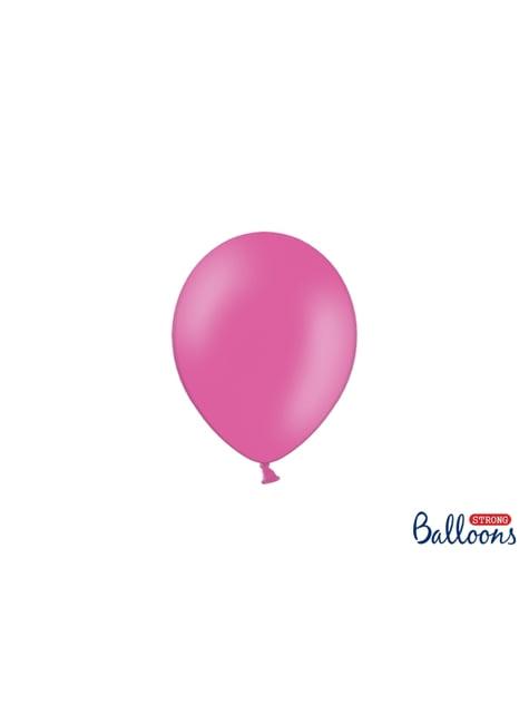 100 silných balónků v růžové pastelové barvě, 12 cm