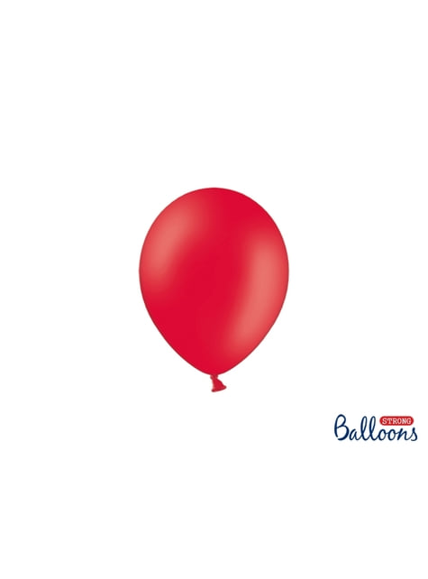 100 ballons extra résistants 12 cm corail pastel